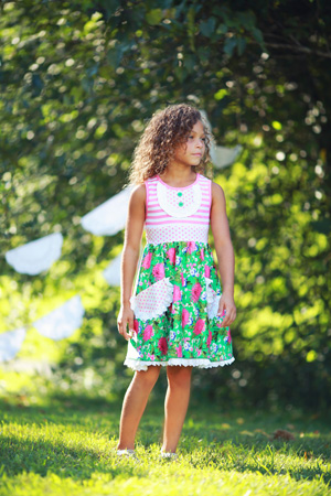 Ring Around the Rosies Pocket Dress
