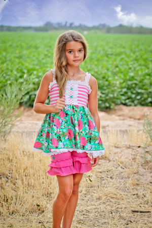 Ring Around the Rosies Tunic Top & Ruffle Shorts