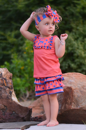 Mango Berry Bib Top & Ruffle Shorties