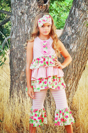 Pocketful of Posies Ruffle Tunic & Capri