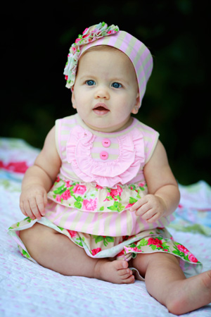 Pocketful Of Posies Baby Romper