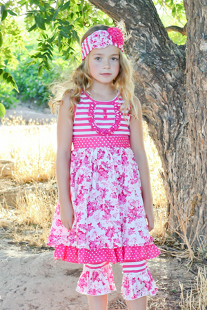 Delicate Rose Dress & Capri